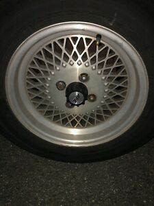 Set Of 4 Rare Are 15 Mustang Saleen Wheels Basket Weave Mesh Style 4 Lug Rims