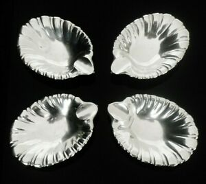 4 American Sterling Silver Ash Trays Ayre Taylor Co 20th Century