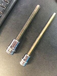 2 Snap On Metric Long Hex Driver Sockets 8mm And 10mm