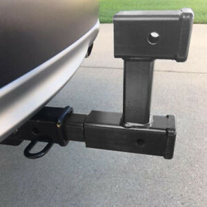 New Truck Dual 2 Trailer Hitch Receiver Rise Drop Adapter Extender Tow 4000lb