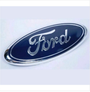 9 1pc Blue Chrome 2005 2014 Ford F150 Front Grille Tailgate Oval Emblem
