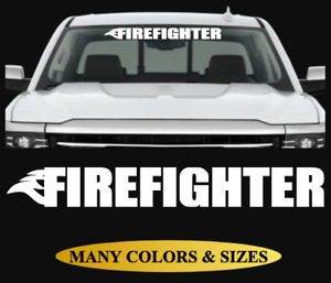 Firefighter Flame Fire Windshield Decal Window Sticker For Car Truck Jeep Suv