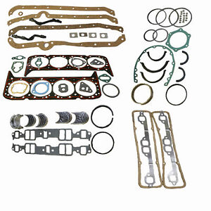 Chevy 350 5 7 Fits Small Block Engine Re ring Remain Kit