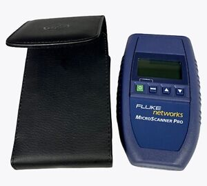 Fluke Networks Microscanner Pro Cable Tester Without Wire Map