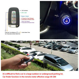 Car Engine Ignition Push Button Remote Control Keyless Entry With Pke Induction