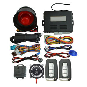 Keyless Entry Engine Ignition Switch Remote Start Stop Car Security Alarm System