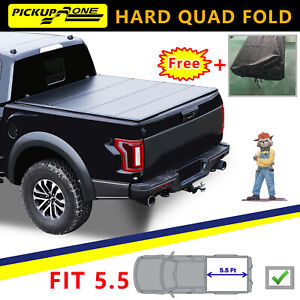 For 2015 2020 Ford F 150 Truck Bed 5 5 Ft Hard Quad fold Tonneau Cover