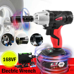 1 2 Inch Drive Electric Brushless Cordless Impact Wrench Drill High Torque Tool