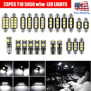 T10 Led Light Car Bulbs 23 Pcs Auto Lamp For Interior Dome Map Set Inside White