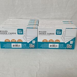 1200 Index Cards White Ruled lot Of 12 100 Per Pack Pen Gear 3x5 7 6cm 12 7