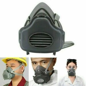 Half Face Protect Painting Spray Facepiece W filters Safety Gas Mask Respirator