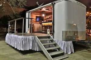 Mobile Partybar Event Trailer With Stage Full Bar Restroom And Photo Booth