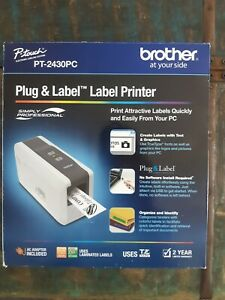 Brother Plug Label Label Portable Thermal Printer Pt 2430pc New In Box