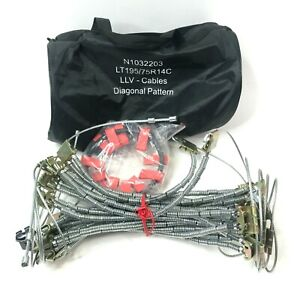 Snow Chains 2 Tire Tensioner Cables Lt195 75r14c N1032203 With Bag New