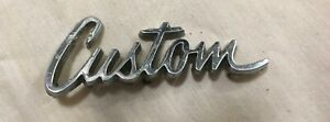 Vintage Custom Car Badge Emblem Letters Logo