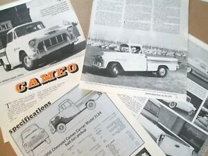 S 1956 Chevrolet Cameo Pickup Truck 7 B w Pages Info
