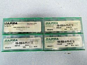 Dapra Fbr 0500 n fpx r1 16 Carbide Inserts Indexable Lot Of 4 Packs Nos 40 Pcs