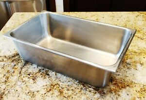 Large Vollrath Usa Stainless Steel Full Size Steam Table Pan 6 Deep 2006 2