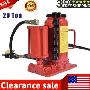 Air Hydraulic Bottle Jack 20 Ton Manual 44092lb Auto Truck Rv Repair Lift Tools