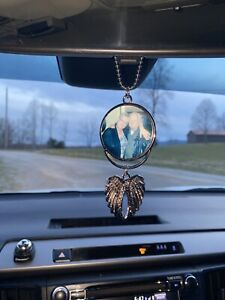Car Auto Rearview Mirror Hanging Ornament Photo Frame In Memory Of