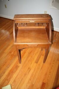 Vintage Oak Roll Top Petite Child Desk Refinished Mint
