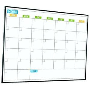 Large 48 X 36 Magnetic Calendar White Board Colorful Magnetic Dry Erase Cale