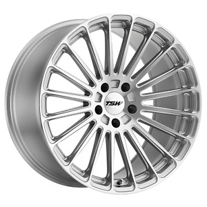Tsw Turbina 19x8 5 42 Titanium Silver W mirror Cut Face Wheel Rim 5x108 qty 1