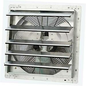 18 Wall Mounted Exhaust Fan Automatic Shutter Variable Speed Vent Fan