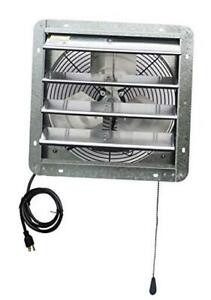 14 Wall Mounted Shutter Exhaust Thermostat Control 3 Speeds Vent Fan For