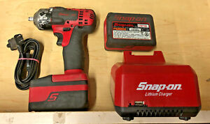 Snap on18v Monstercordless Impact Wrench3 8 Ct8810 2 Batteries Charger