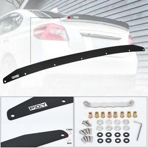 Pqy Aluminum Performance Gurney Flap Rear Spoiler For 2015 2021 Subaru Wrx Sti
