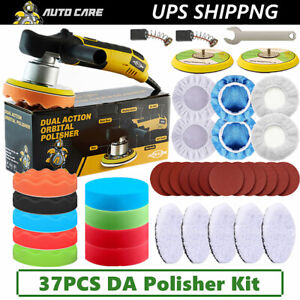 6 Dual Action Buffer Polisher Sander Orbital Car Polishing Machine Wax Pad Mop