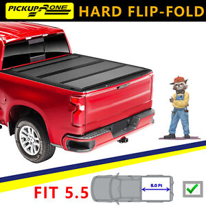 Flip Folding Tonneau Cover Top For 2015 2021 Ford F 150 5 5ft Truck Bed Cover