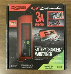 Schumacher Sp1297 12v Automatic Battery Charger 3 Amp Maintainer Free Shipping