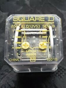 Square D 8501kld12v53 Ser B Latch Reset 24vdc Relay