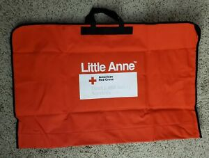 Red Cross Laerdal Little Anne Adult Cpr Training Manikin Carrying Bag Case New