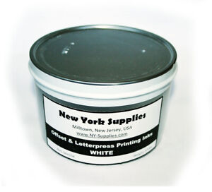 White Offset And Letterpress Printing Ink 3 5 Lbs