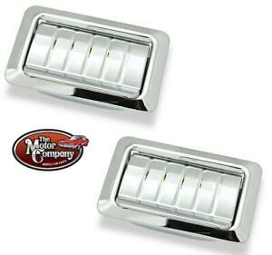 1968 1969 Chevelle Hardtop Rear Arm Rest Ash Tray Set Ribbed Pair In Stock