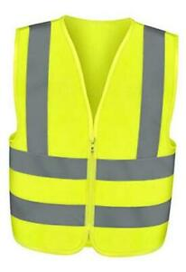53941a High Visibility Safety Vest Large Neon Yellow