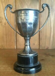 1949 Vintage Silver Plate Pony Trophy Trophies Loving Cup Trophy