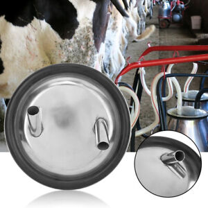 Stainless Steel Milk Bucket Lid And Gasket For Milking Machine Two Open Lid
