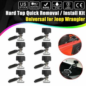 Universal Easy On Off Hard Top Fasteners Nuts Bolts For Jeep Wrangler Yj Tj Jk