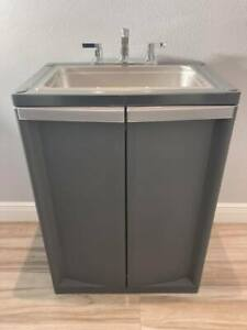 Portable Sink Mobile Handwash With Hot Cold Water Fullsize Basic 2021 d gray