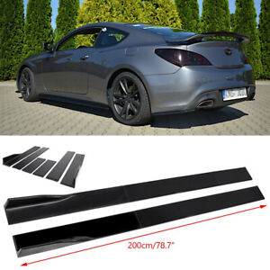 For 2010 2012 Hyundai Genesis Coupe Sport Side Skirt Extension Rocker Panel Lip