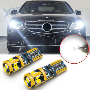 6000k White 3030 Smd Canbus Error Free W5w 2825 Bulb For Mercedes Parking Lights