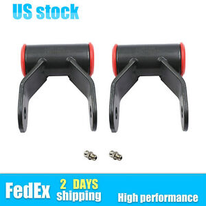2x For 02 08 Dodge Ram 1500 2 Drop Shackle Lowering Shackles Leveling Kit 2wd