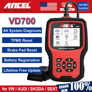 All System Obd2 Code Reader Diagnostic Dpf Battery Tpms Scanner Tool For Audi Vw