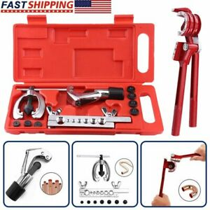 Alloy Brake Pipe Flaring Tool Line Plumbing Aluminum 3 in 1 180 Degree T Clamp