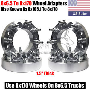4 Wheel Adapters 8x6 5 To 8x170 For 1987 1998 Ford F 250 F 350 With 9 16 Studs