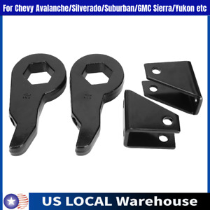Front 1 3 Leveling Kit With Shock Extender For Gmc Chevy 2500 3500 99 13 Us Fits 2000 Silverado 2500